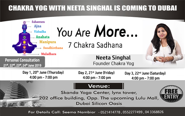 CHAKRA YOG WORKSHOP IN DUBAI