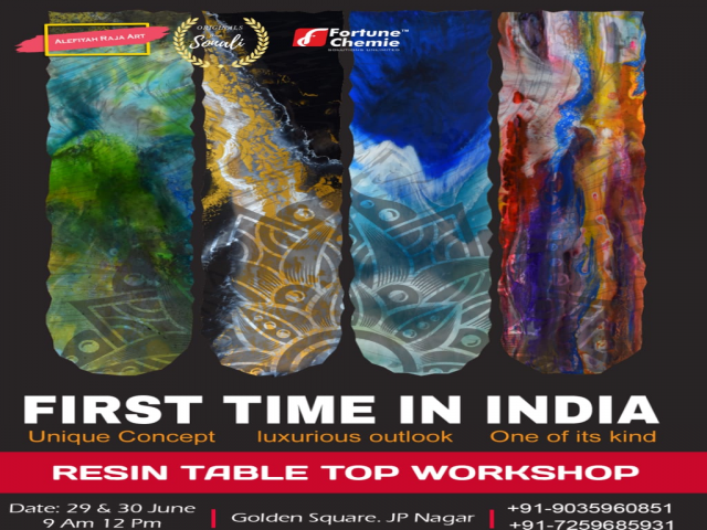 Resin Table Top Workshop - Bangalore