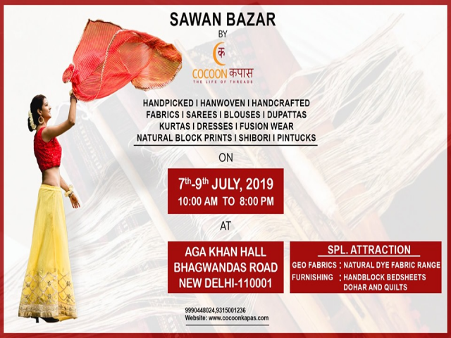 Sawan Bazar By Cocoon Kapas (7th,8th,9th July, Aga Khan Hall)
