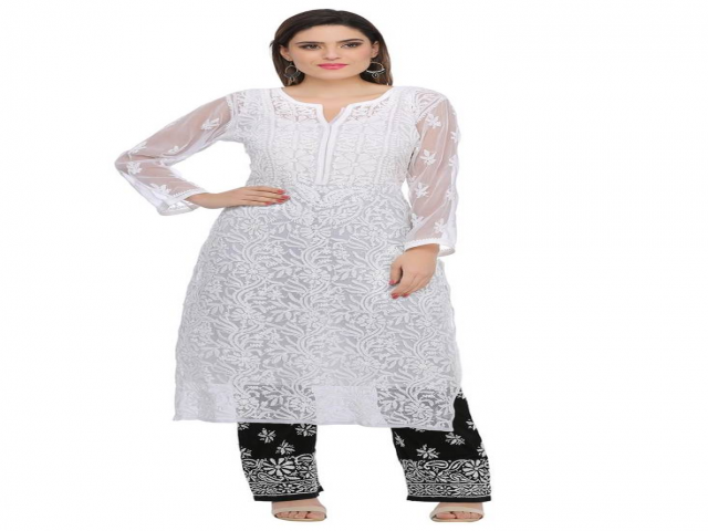 Shop Embroidery Chikankari Kurtis Online At Best Prices