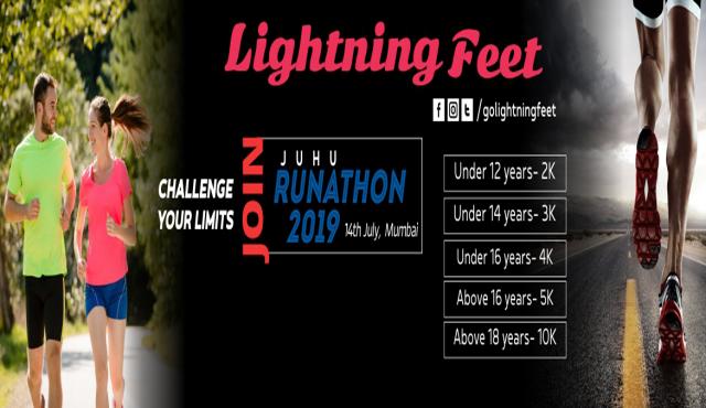 Lightning Feet JUHU RUNATHON 2019