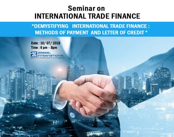 Free seminar on International Trade Finance