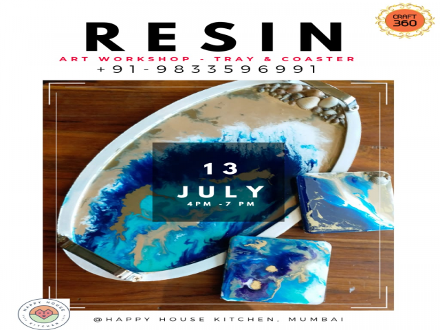Resin Art workshop with the Tray and Coaster