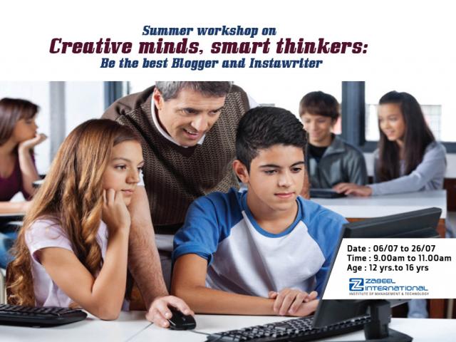 Summer workshop on Creative Minds, Smart Thinkers