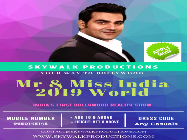 Mr & Miss India 2019 registration