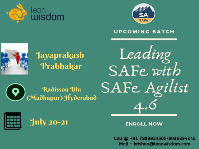 Leading SAFe Agilist Certification in Hyderabad