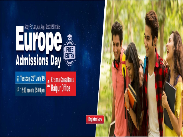 Europe Admissions Day at Krishna Consultants Raipur - Tuesday, 23rd July 2019