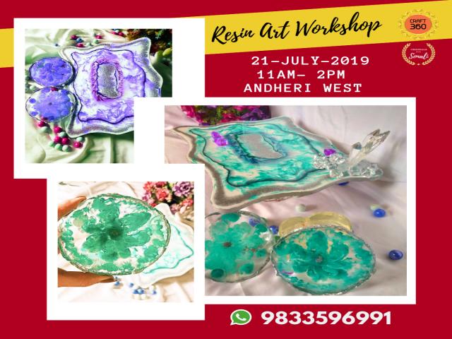 Resin Agate Coaster & Platter Workshop