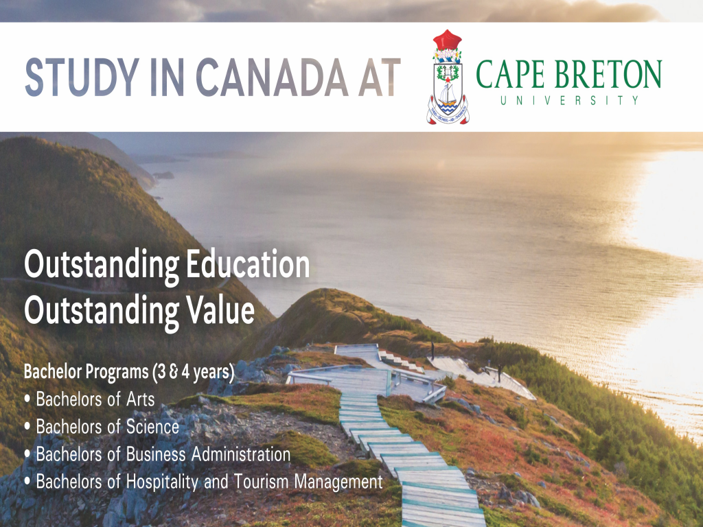 Study in Canada at Cape Breton University Application Day