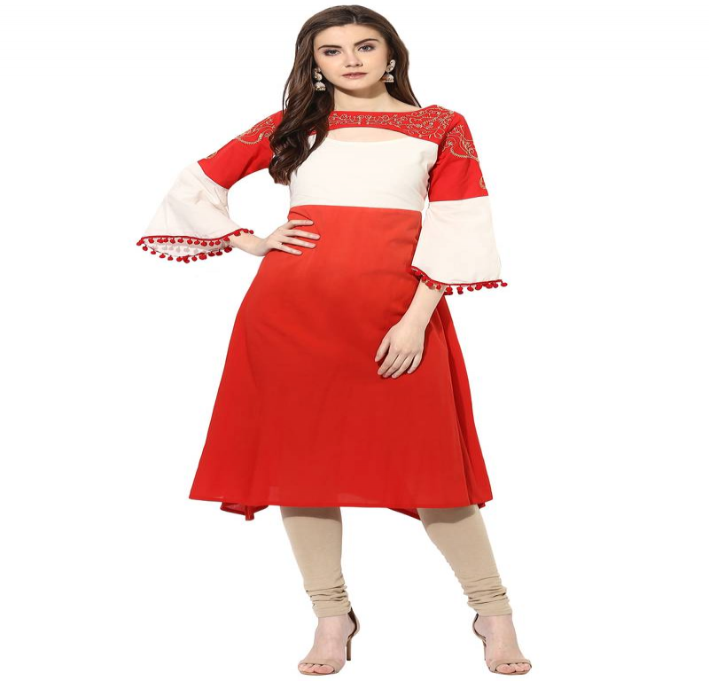 Shop Best Patterns in Red Kurtis At Best Prices