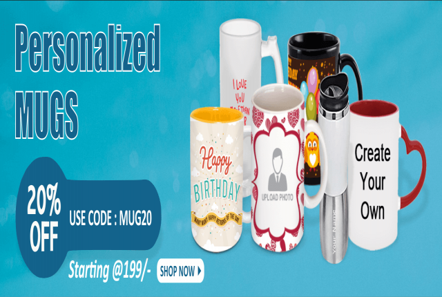 Get Personalized Mugs with your own photo Just @199