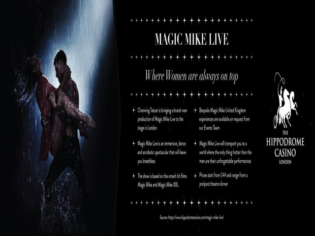 Magic Mike Live - Saturday 31st August - 10pm