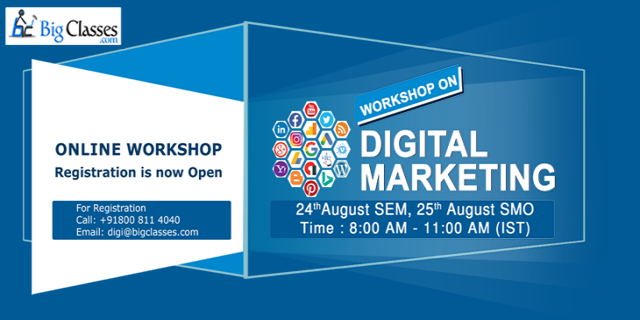 SEM & SMO Workshop on 24th & 25th August  8AM To 11 AM IST