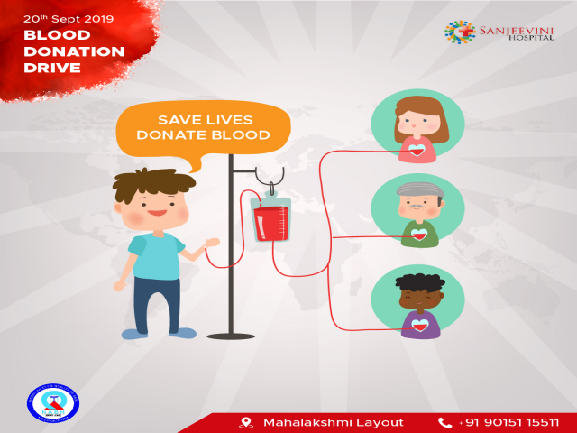 Sanjeevini Hospital Blood Donation Drive
