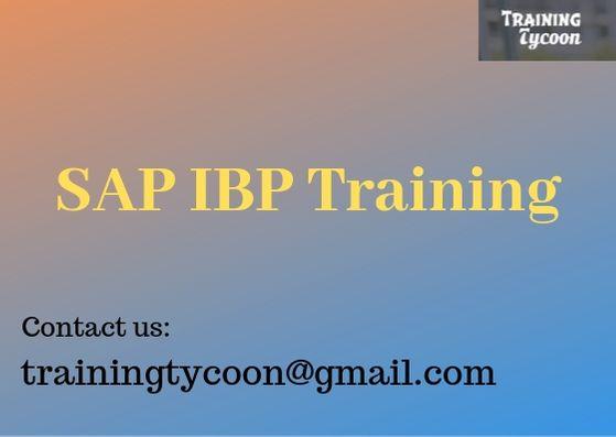 SAP IBP Training | SAP IBP Online Training- TrainingTycoon