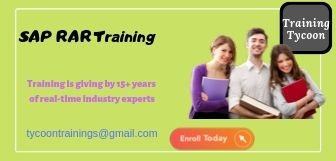 SAP RAR Training | SAP Revenue Accounting & Reporting Online Training