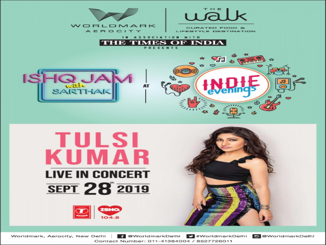 Come witness the first ever Ishq Jam with Sarthak Live with Tulsi Kumar this Sat