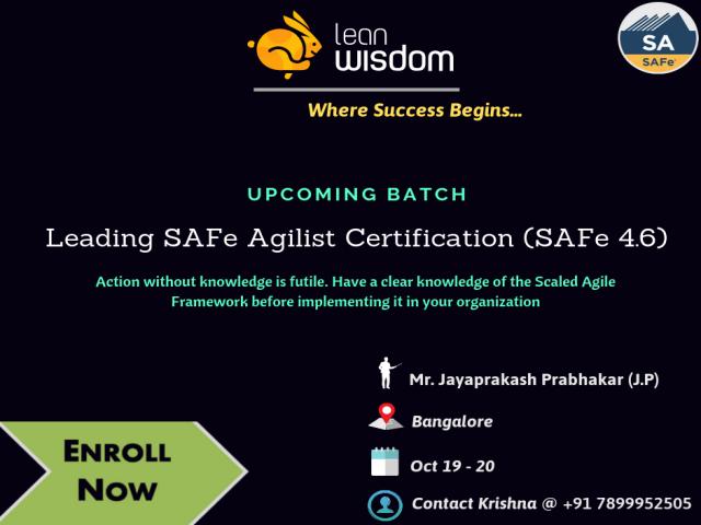 SAFe Agile Certification in Bangalore