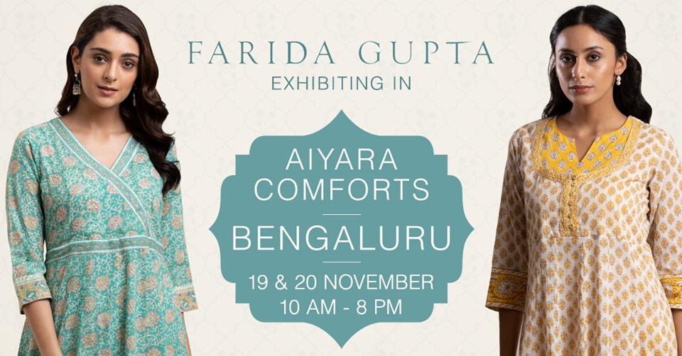 Farida Gupta Bengaluru Exhibition (Aiyara Comforts)