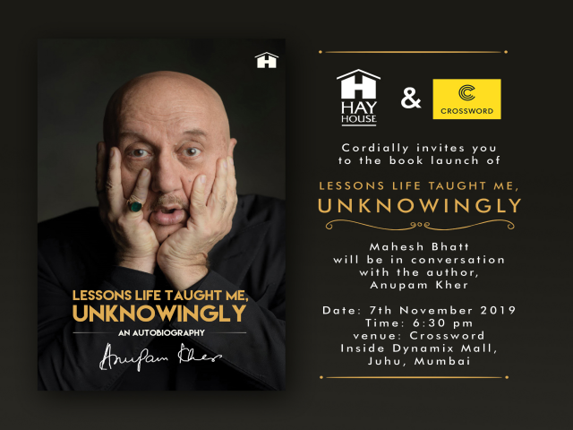 Anupam Kher's book launch, 'Lessons Life Taught Me, Unknowingly'