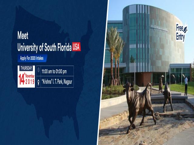 Meet & Apply to University of South Florida, USA at KC Nagpur