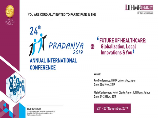 24th Annual International Pradanya Conference 2019,IIHMR University