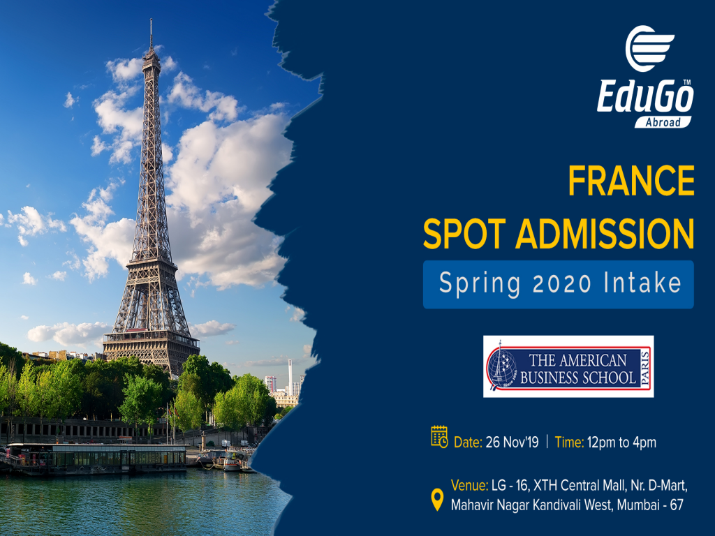 France Spot Admission Spring 2020