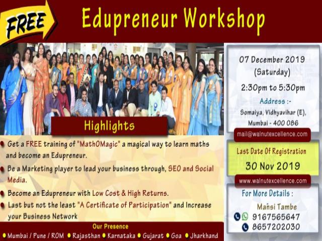Edupreneur Workshop - Walnut Excellence Education