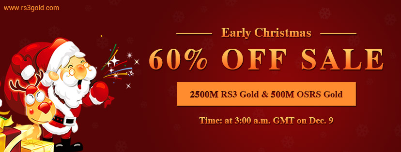 Best Xmas Gift for RS Fans:Up to 60 off cheap rs 3 gold on RS3gold Dec.9