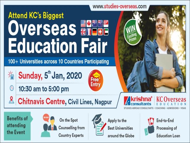Overseas Education Fair in Nagpur - 5th Jan'20 (Study Abroad Fair) | Free Entry