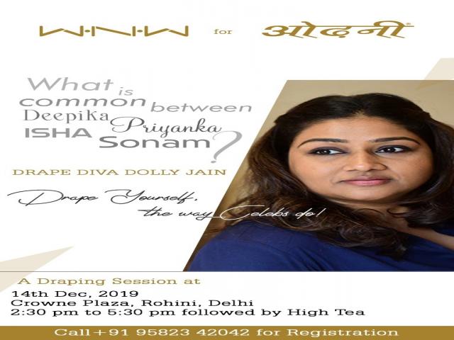 Saree Draping Session by Celebrity Drape Artist Dolly Jain