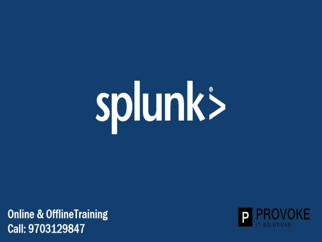 Splunk Training in Hyderabad,Ameerpet, Provoke Trainings