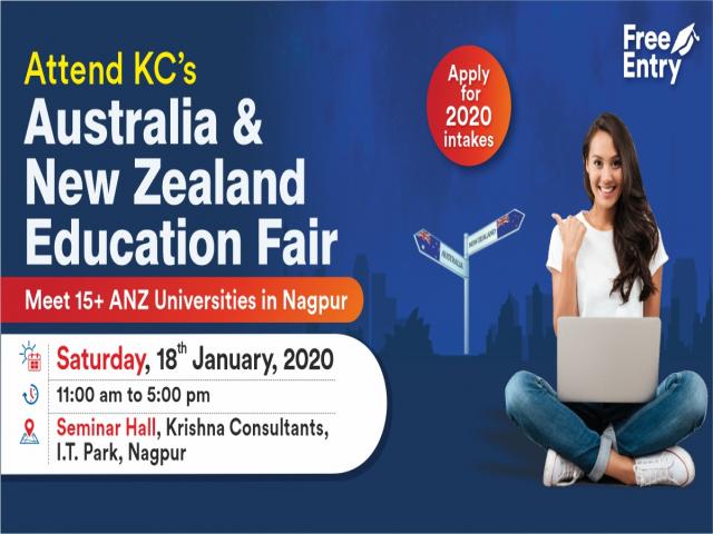 Attend Australia - New Zealand Education Fair on 18th Jan 20 at KC Nagpur