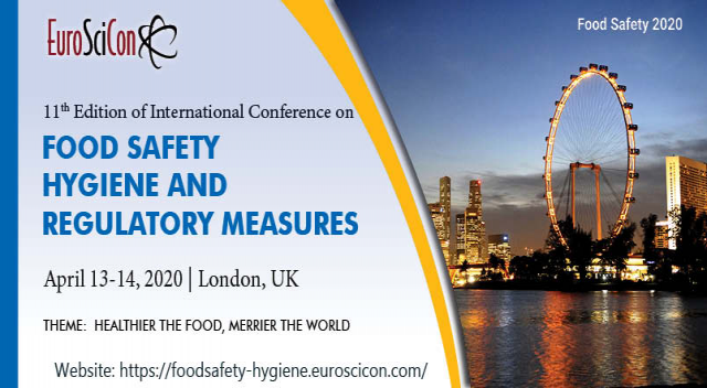 11th Edition of International Conference on  Food Safety, Hygiene And Regulatory