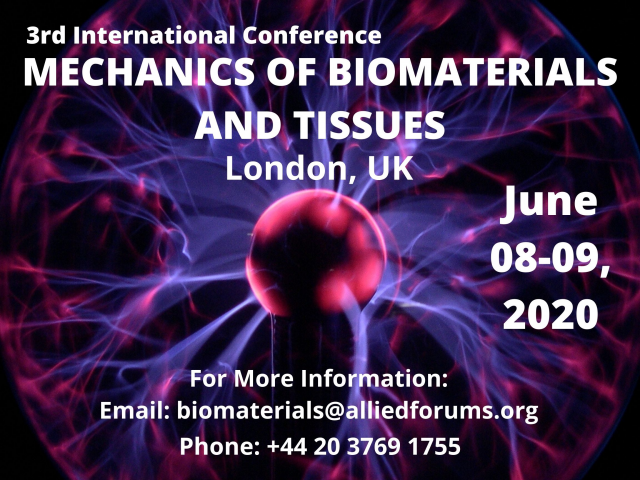 3rd International Conference on Mechanics of Biomaterials and Tissues