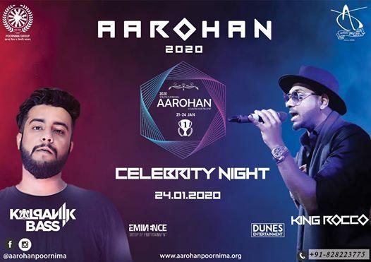 Celeb Night At Aarohan20 With King Rocco