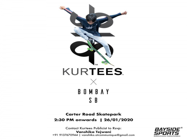 KURTEESxBombaySB hosts the first ever Skateboarding Masterclass for kids by kids