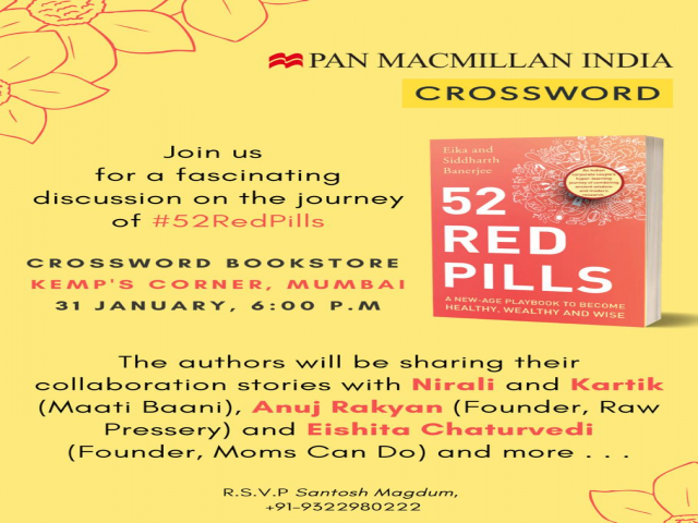 learning journey with Crossword Bookstores at the launch of 52 Red Pills