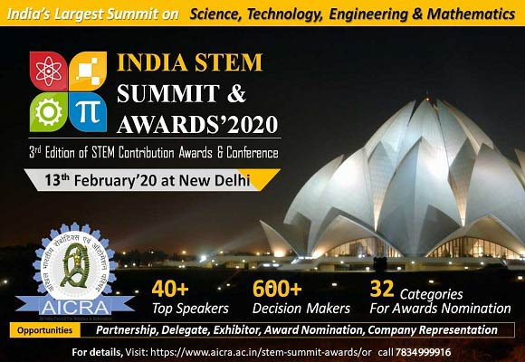STEM Summit & Awards is going to be held on 13th Feb,2020.