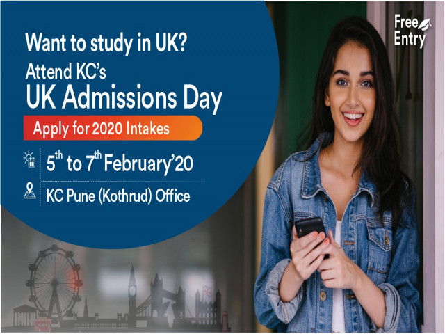 Attend UK Admissions Day at KC Pune - 5th to 7th Feb 20