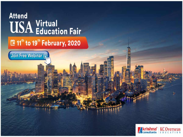 Attend USA Virtual Education Fair from 11th to 19th Feb 2020