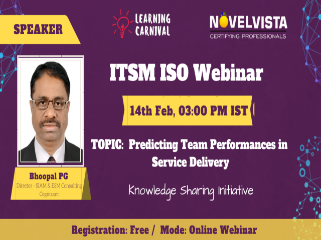 ITSM Webinar on Predicting Team Performance in Service Delivery