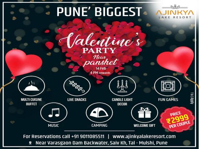 Celebrate Your Joyful Valentine Day With Ajinkya Lake Resort