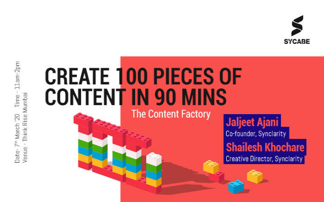 The Factory of Content : Live Demo - 100 Creatives in 90 minutes
