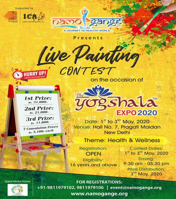 The Yogshala Expo Painting Event 2020.