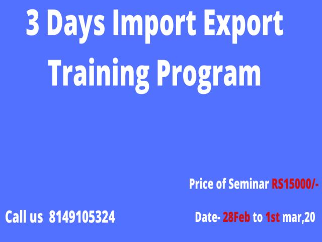 3 Days Import-Export Business  Training Program