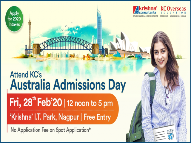 Attend Australia Admissions Day on 28th Feb 20 at KC I.T Park, Nagpur