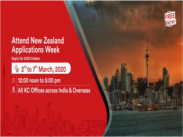 Apply to High Ranked NZ Universities from 2nd to 7th March 20 at KC Nagpur