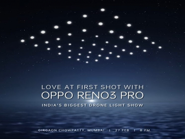 OPPO to light up Mumbai skyline with biggest Drone Fly Light Show in India