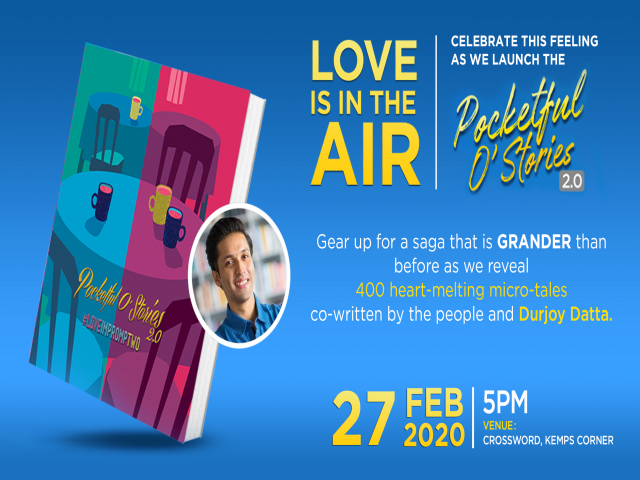Durjoy Datta to launch Pocketful O Stories 2.0 Loveimpromtwo at Crossword